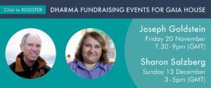 Dharma fundraising events with Joseph Goldstein & Sharon Salzberg