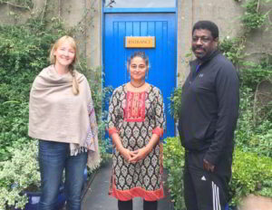 Outreach Development Officer Rachel Davies with Diversity Consultants Sandhya Dave and Dave Samuels