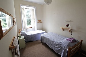 Bedroom at Gaia House