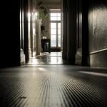Gaia House Interior corridor doorway