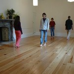 Meditation at Gaia House - walking meditation