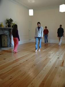Meditation at Gaia House - walking meditation