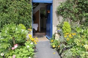 Gaia House and Gardens front door