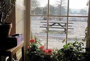 Snow through the lounge window