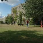 Walking meditation on Gaia House lawn