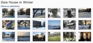 Gaia House in Winter - Photo Gallery