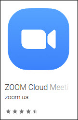 The Zoom App is available in the App Store or from Google Play.